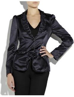 Burberry ProrsumRuched-lapel satin jacket
