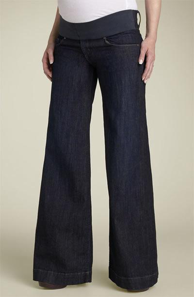 Corte dos jeans de grávida
