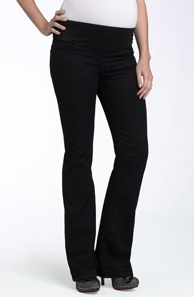 Conforto dos jeans de grávida