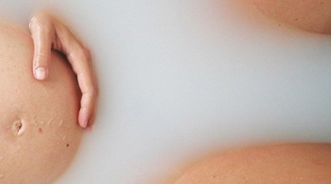 Grávida na banheira