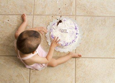 Bolo de festa de aniversário do bebé